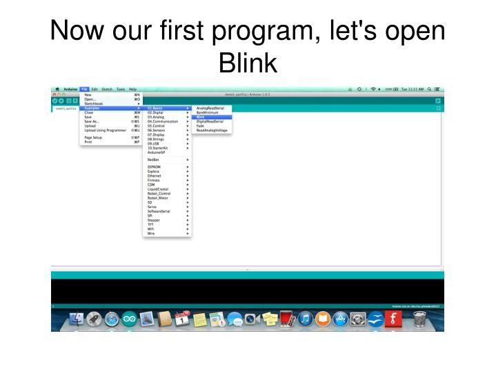 Now our first program, let's open Blink