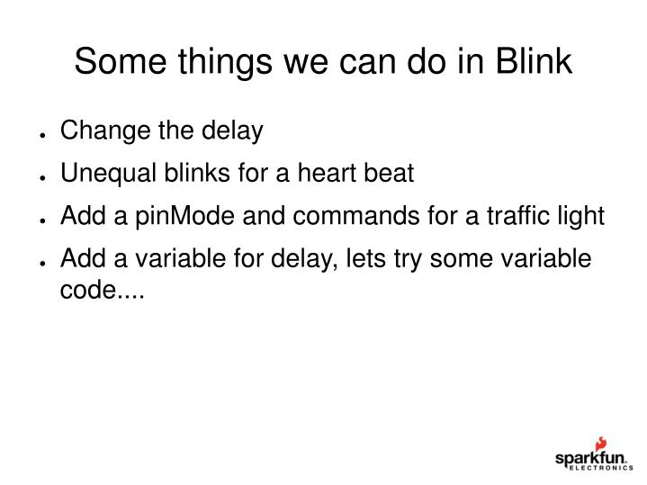 Some things we can do in Blink