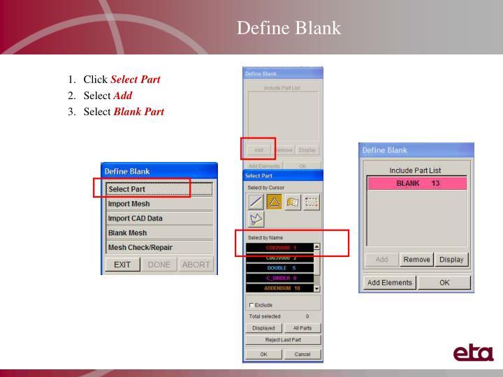 Define Blank