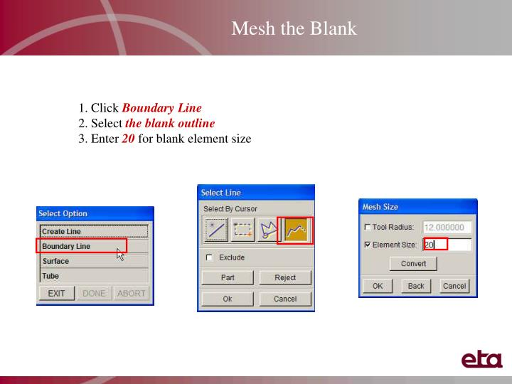 Mesh the Blank