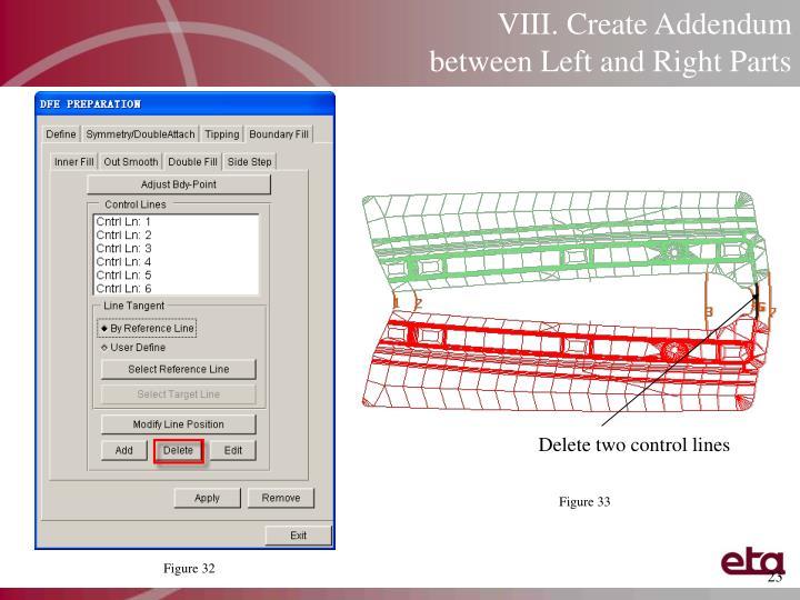 VIII. Create Addendum