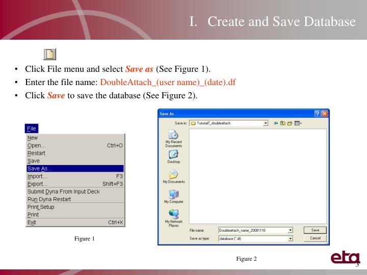 Create and Save Database