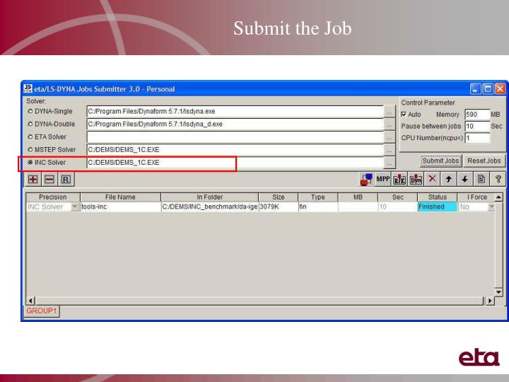 Submit the Job