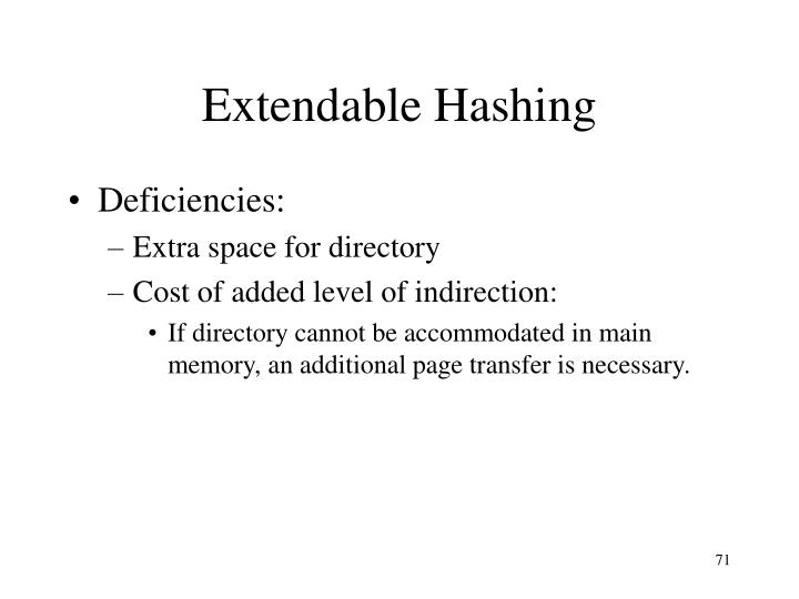 Extendable Hashing