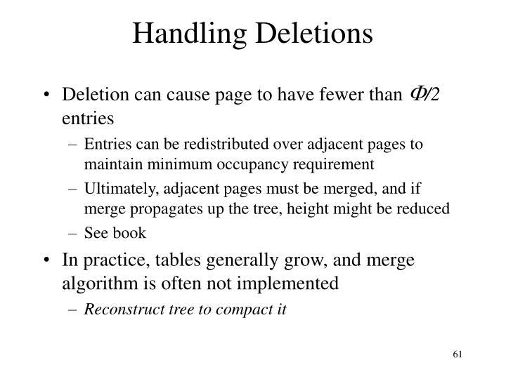 Handling Deletions