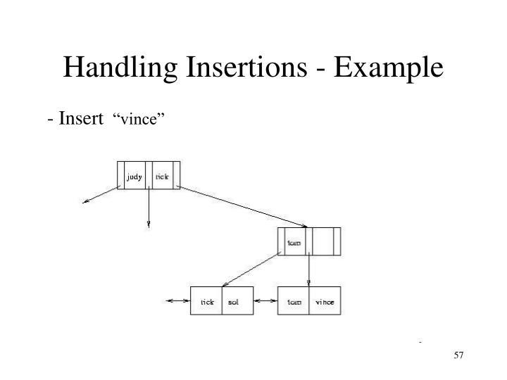 Handling Insertions - Example