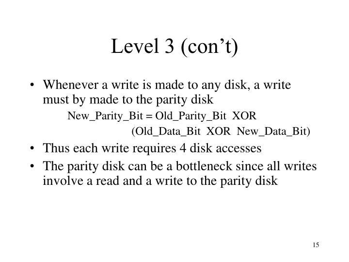 Level 3 (con't)