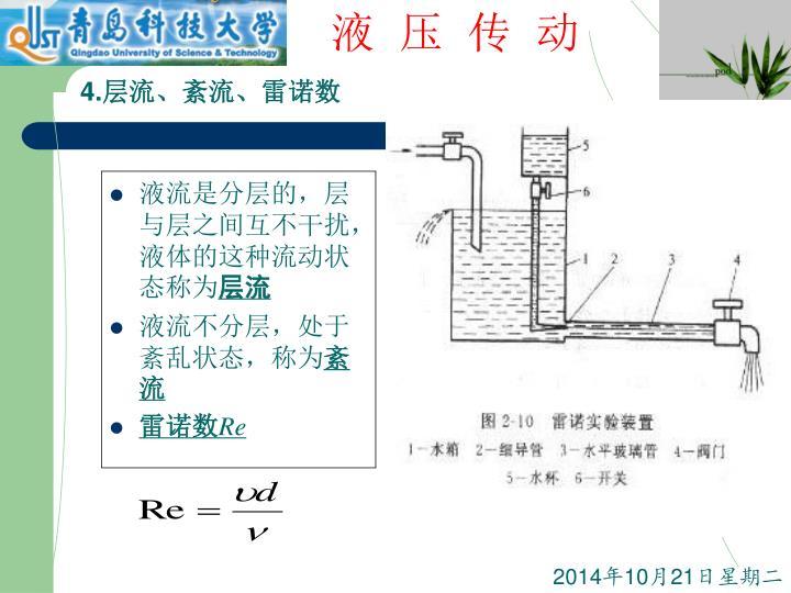 液流是分层的,层与层之间互不干扰,液体的这种流动状态称为
