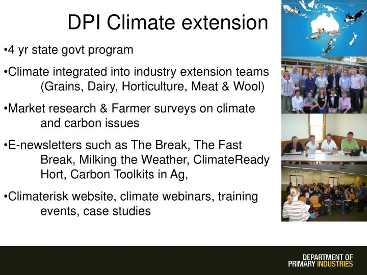 DPI Climate extension