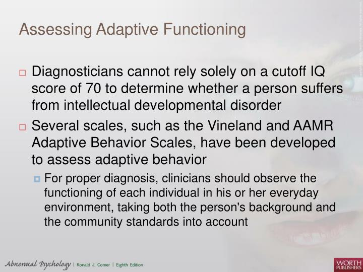 Assessing Adaptive Functioning