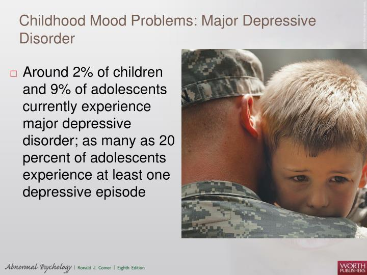 Childhood Mood Problems: Major Depressive Disorder