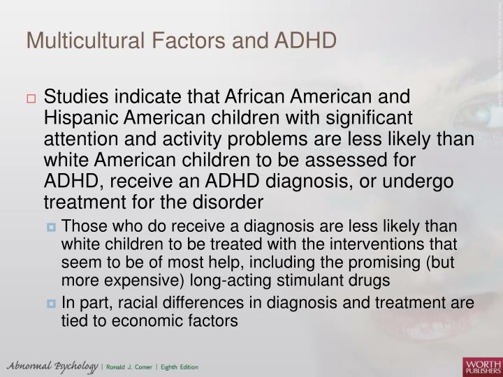 Multicultural Factors and ADHD