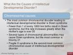 what are the causes of intellectual developmental disorder1
