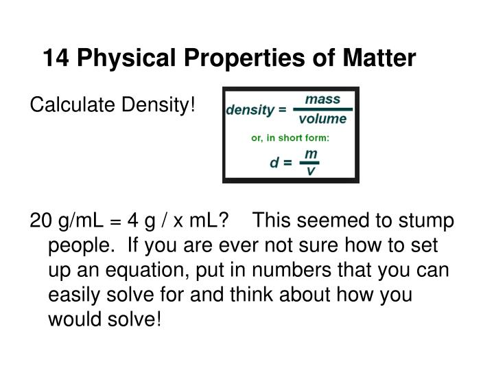 14 Physical Properties of Matter
