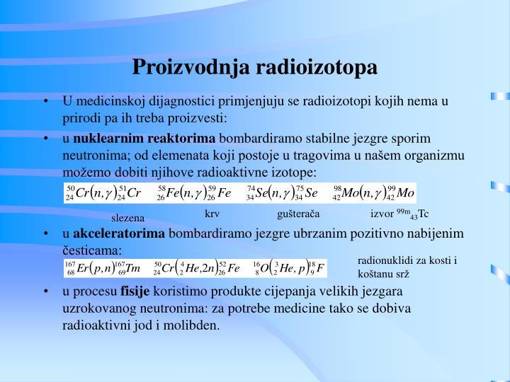 Proizvodnja radioizotopa