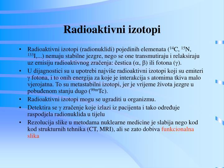 Radioaktivni izotopi