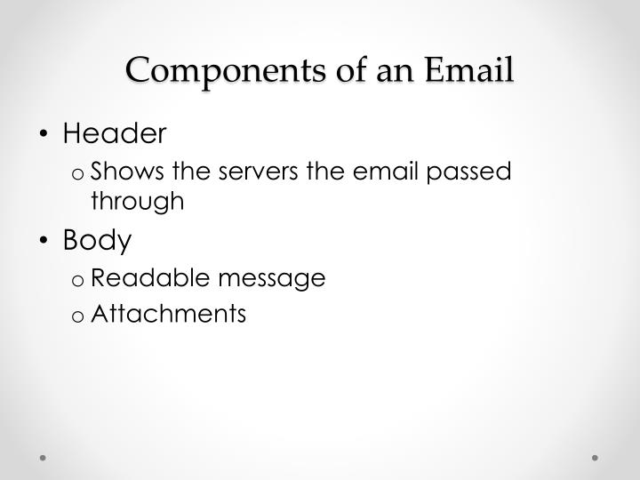 Components of an Email