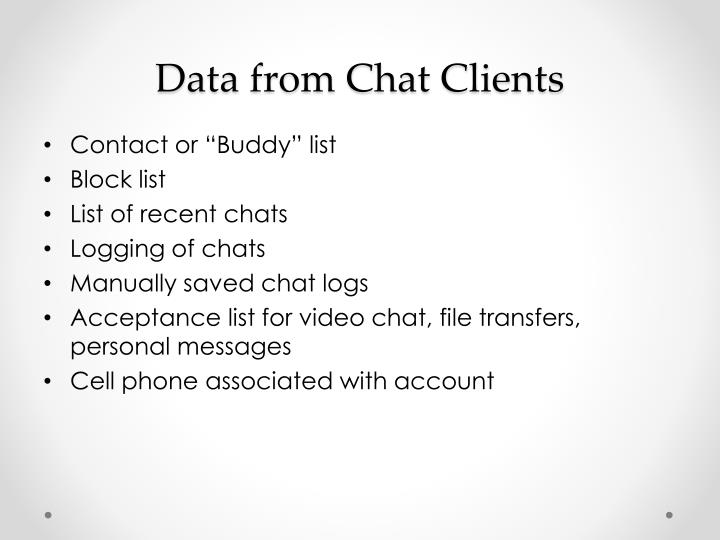 Data from Chat Clients