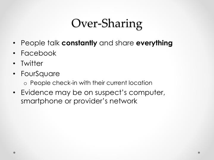 Over-Sharing