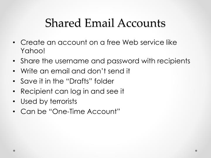 Shared Email Accounts