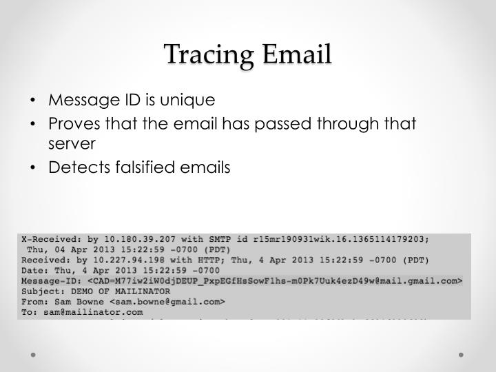 Tracing Email
