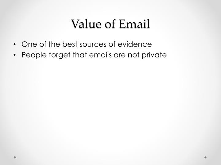 Value of Email