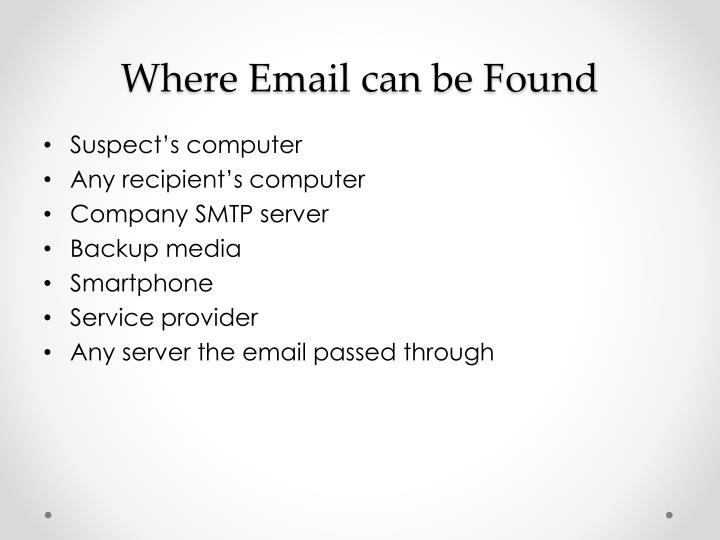 Where Email can be Found