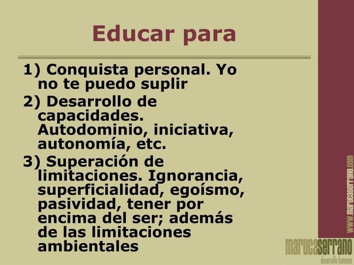 Educar para