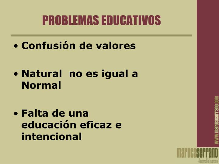 Problemas educativos
