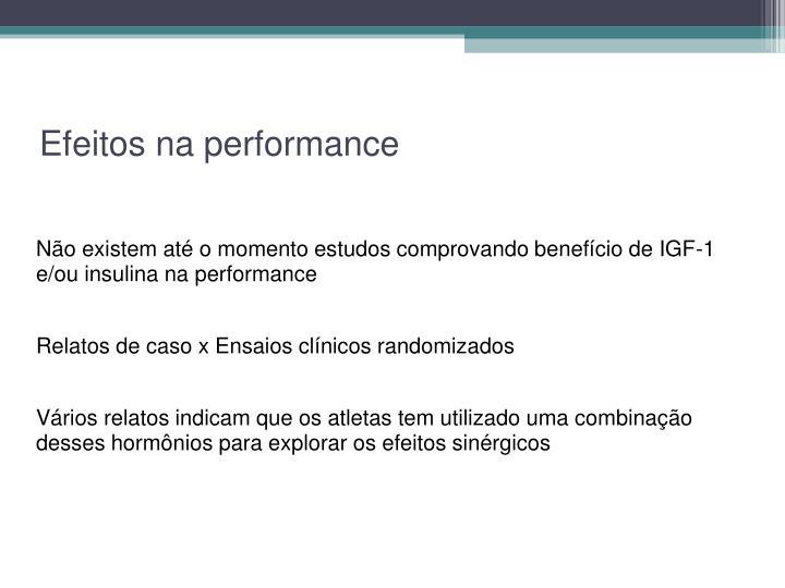 Efeitos na performance