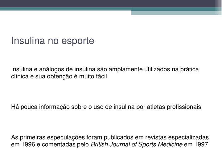 Insulina no esporte