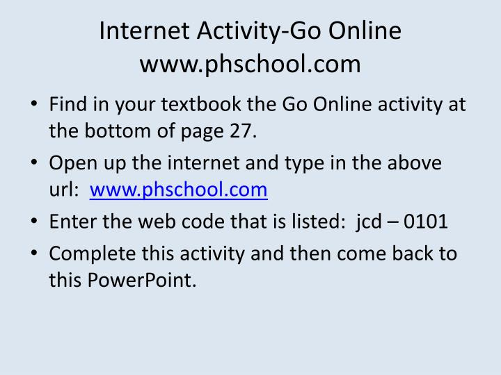 Internet Activity-Go Online
