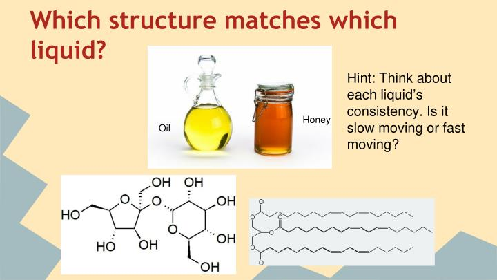 Which structure matches which liquid?