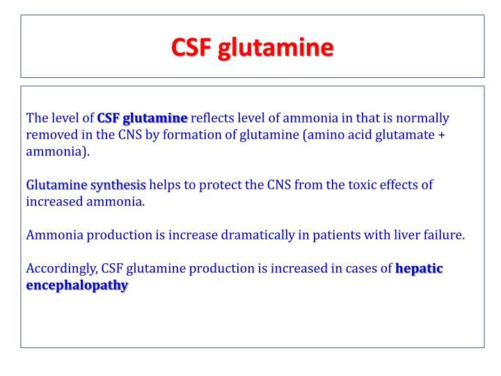 CSF glutamine