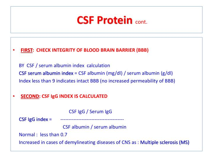 CSF Protein