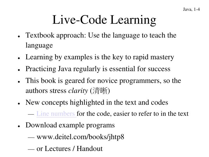Live-Code Learning