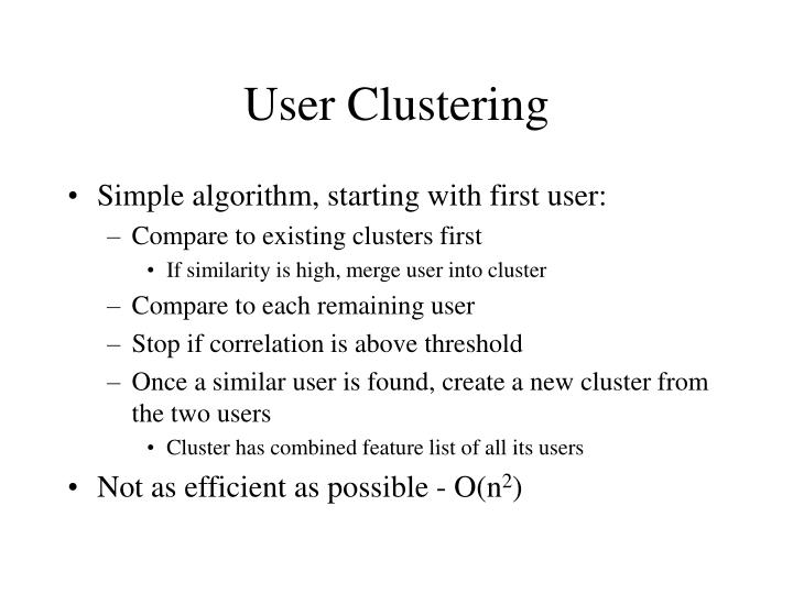 User Clustering