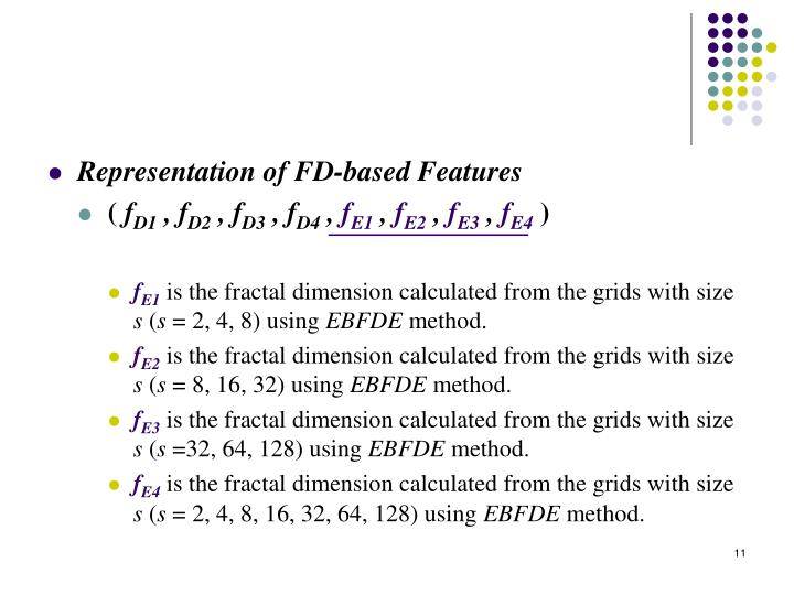 Representation of FD-based Features