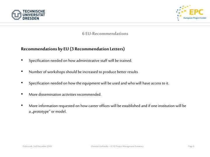 6 EU-Recommendations