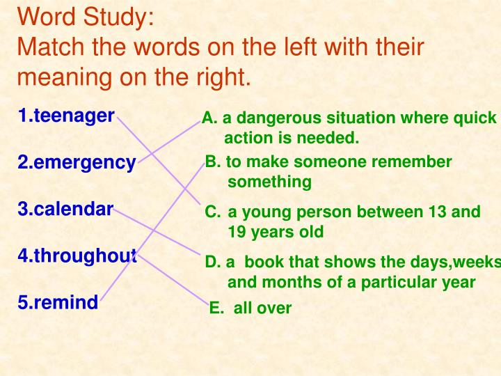 Word Study: