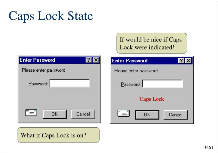 If would be nice if Caps Lock were indicated!