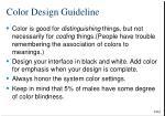color design guideline