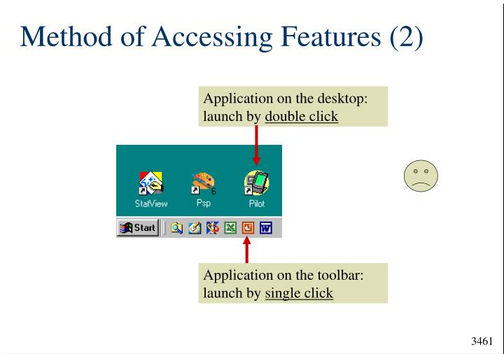 Method of Accessing Features (2)