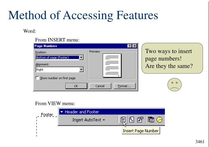 Method of Accessing Features