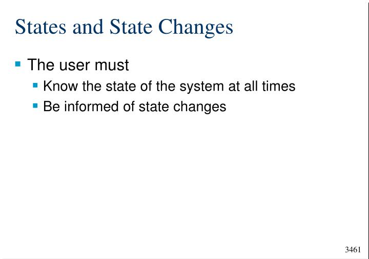 States and State Changes