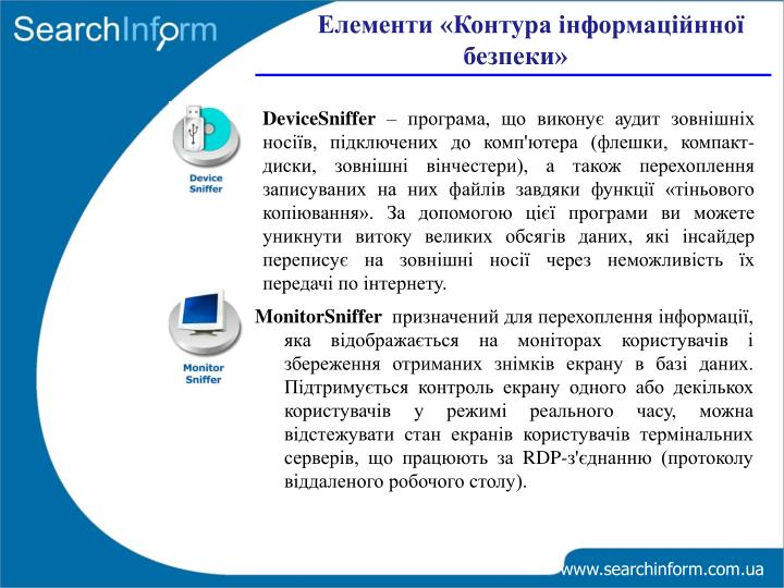 Елементи «Контура інформаційнної безпеки»