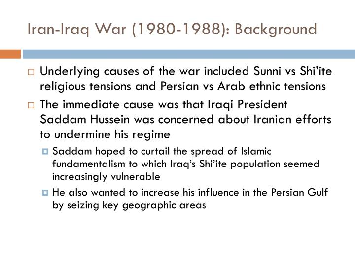 the causes of the persian gulf Persian gulf war veterans have reported health problems that many suggest are   landrigan (9) summarized the reason to include stress in the study and.
