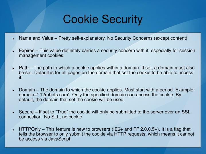 Cookie Security