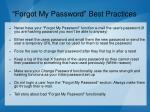 forgot my password best practices