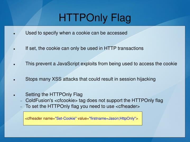 HTTPOnly Flag